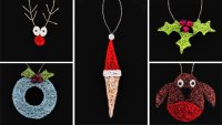 Woven Copperwire Christmas Decorations with Jo Dewar - £74 image