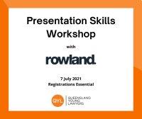 Presentation Skills with Rowland image