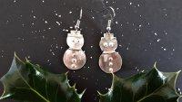Silver Clay Festive Snowman Earrings with Wizz Stearne - £40 image